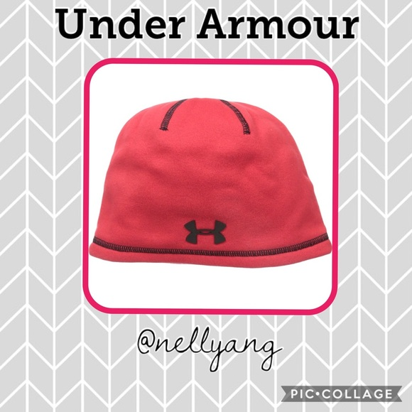 New UA Under Armour Youth Kids Beanie Hat Red 196b769a068